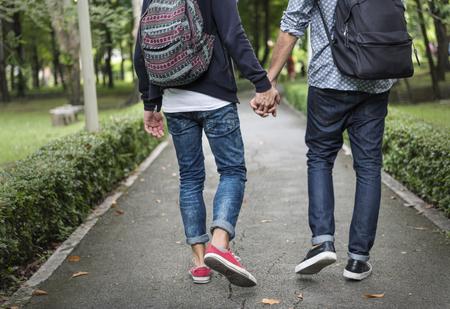 同性カップル愛の概念の屋外 写真素材