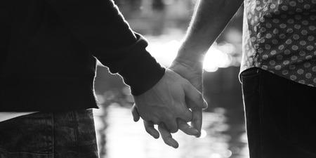 Homosexuell Paar Liebe Im Freien Konzept Standard-Bild
