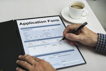 fulfill: Application Form Document Page Concept Stock Photo