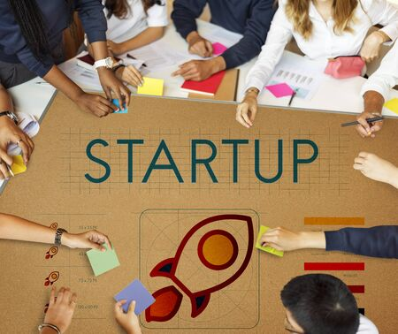 small business team: Startup Business Entrepreneurship Launch Concept