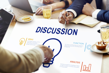 Meeting with discussion concept Stock Photo