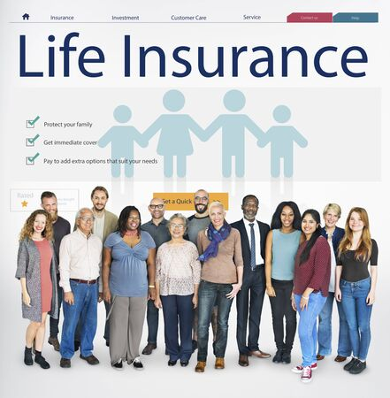 senior adults: Life Insurance Health Protection Concept