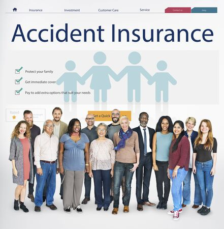asian ethnicity: Insurance Coverage Mix Reimbursement Protection Concept Stock Photo