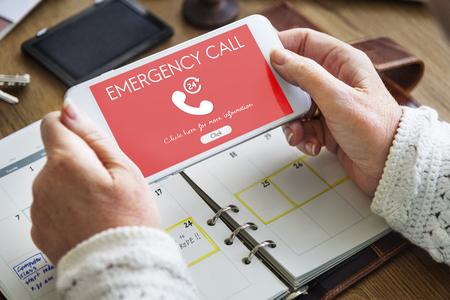 emergency call: Emergency Call Urgent Accidental Hotline Paramedic Concept