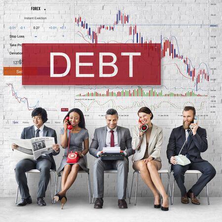 bullish: Debt Chart Graphic Diagram Concept