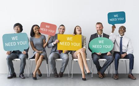 Nós precisamos de você Concept Mensagem Imagens - 71082978