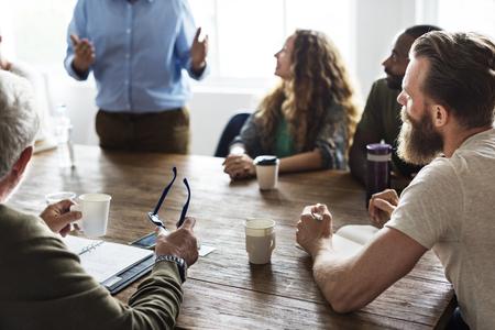 Setkání Concept tabulka Networking Sharing