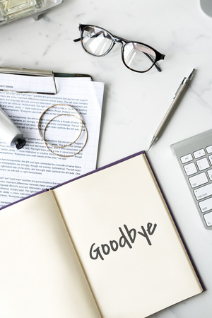 phrase novel: Goodbye Farewell Phrase Saying Leave Later Concept