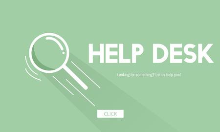 Help desk concept Фото со стока