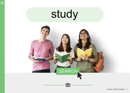 Distance learning online search interface Stock Photo