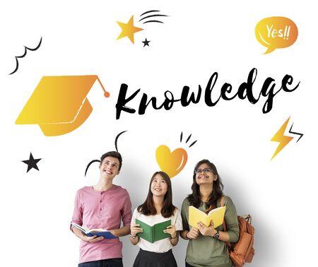 literacy: Education Graduation Cap Graphic Concept