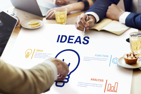 People with ideas concept Stock Photo