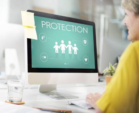 family: Family Insurance Reimbursement Protection Concept