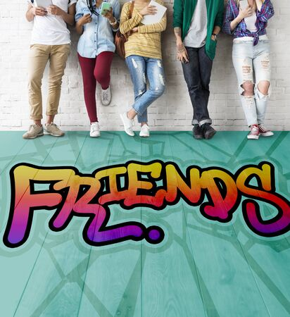friendliness: Freinds Community Relationship Togetherness Concept Stock Photo
