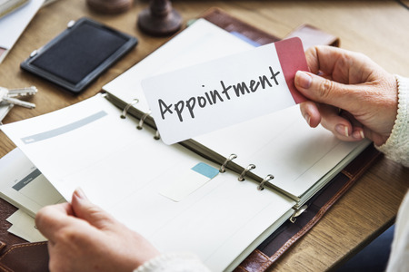 appointing: Appointment Agenda Assignment Planning Schedule Concept Stock Photo