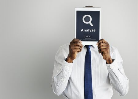 analyze: Analyze Work Business Strategy Concept Stock Photo