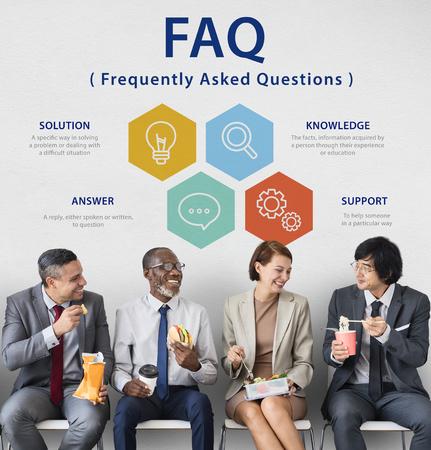 Customer Service FAQs Illustration Concept
