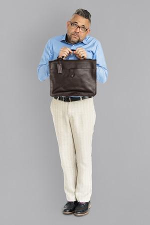 Man holding briefcase 스톡 콘텐츠