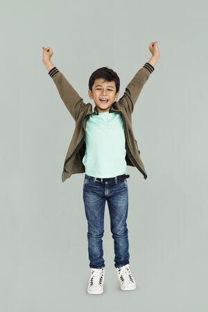 Little Boy Hands Up Concept