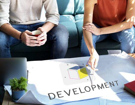 Marque Produit Design Idée Imagination Projet Concept Banque d'images