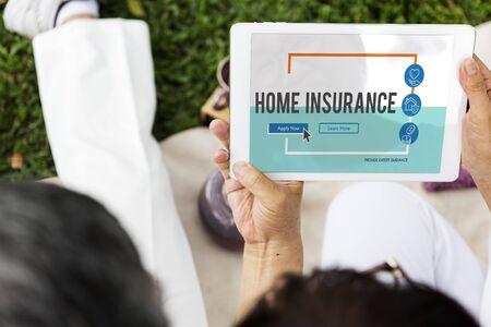asian family: Insurance Life Reimbursement Protection Concept Stock Photo