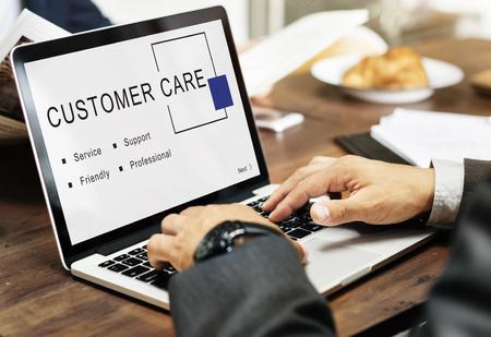 Customer Care Service Support Consumer Concept Фото со стока