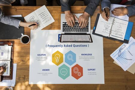 faq's: Customer Service FAQs Illustration Concept