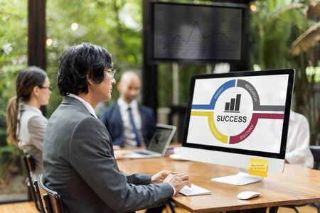 Success Diagram Processes Circle Concept