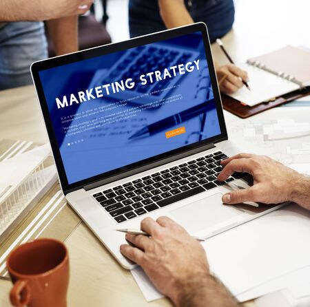 taking notes: Marketing Strategy Business Analysis Concept Stock Photo