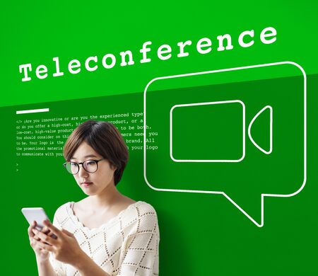Communication Connection Teleconferrence Network Concept Stock Photo