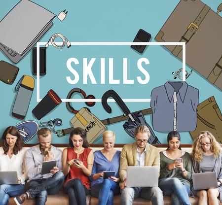 leading education: Training Skills Development Improve Concept Stock Photo
