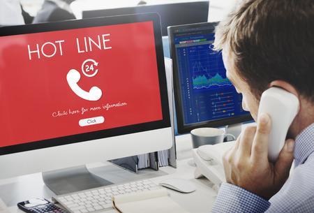 Call Center Service Information Concept Фото со стока - 71419416