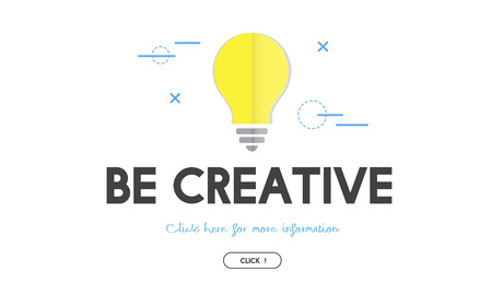 Light bulb with be creative concept