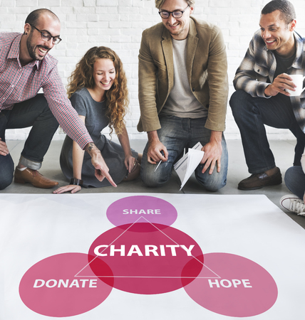 welfare: Charity Donations Support Volunteer Welfare Concept