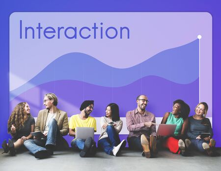 Interaction Connection Statistics Chart Concept Stock Photo