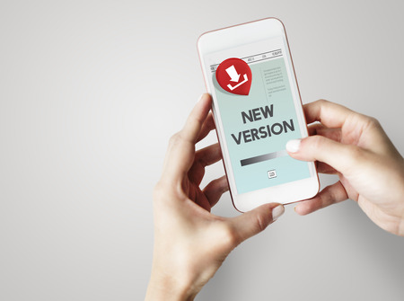 version: New Version Download Application Concept