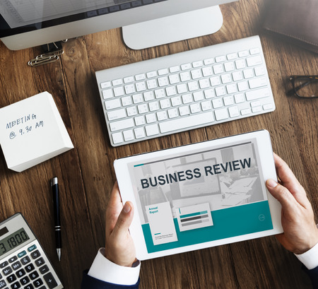 review: Analytics Business Review Marketing Information Concept