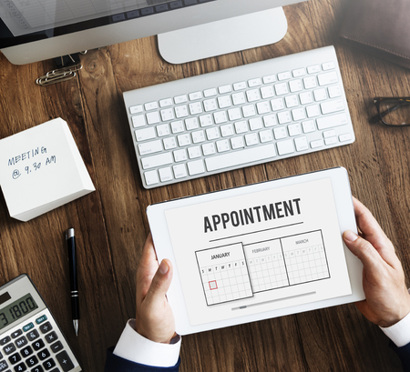 Tablet with appointment concept