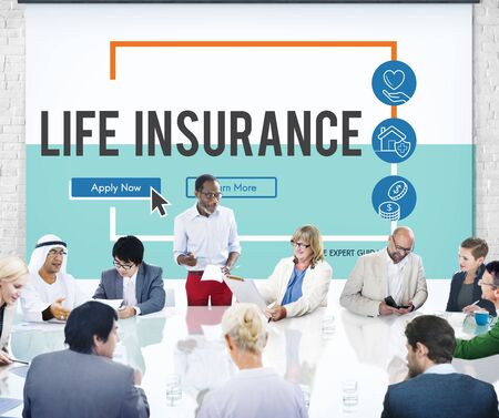compensation: Insurance Life Reimbursement Protection Concept Stock Photo