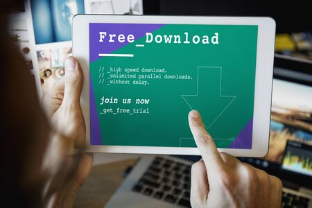 downloadable: Free Download Latest Update Application Concept Stock Photo