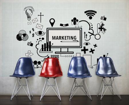 Marketing Computer Sign Symbol Concept
