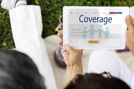 family policy: Insurance Coverage Mix Reimbursement Protection Concept Stock Photo
