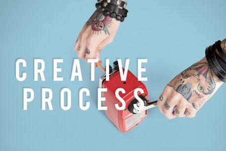 Creative Thinking Ideas Imagination Design Concept Stock Photo