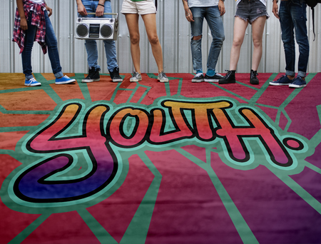 boyhood: Youth Word Street Drawing Style Concept