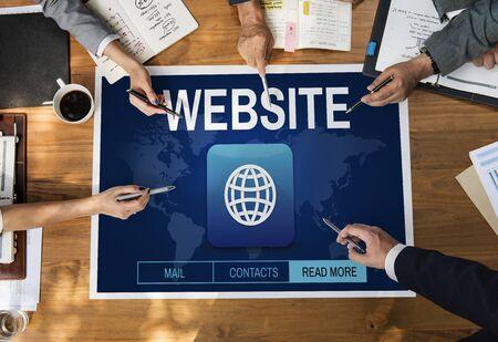 diversity domain: Website Global Worldwide Icon Concept Stock Photo