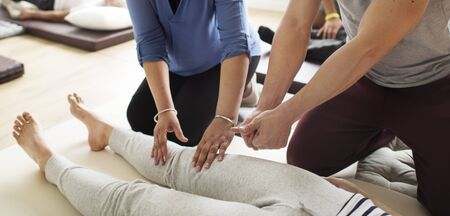 Health Wellness Massage Training Concept Imagens