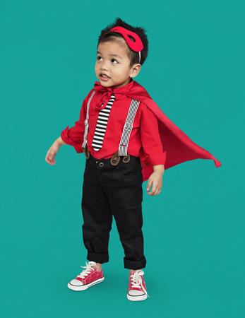 Boy in super costume Stockfoto