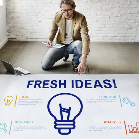 People with fresh ideas concept