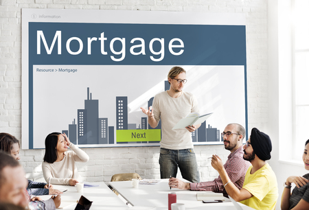 real leader: Business Property Mortgage Rent Concept