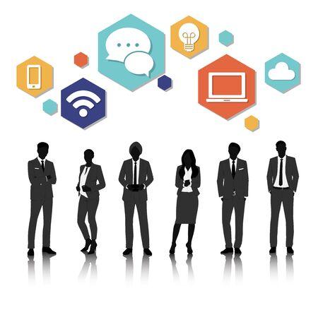 Vector UI Illustration Concept de gens d'affaires Banque d'images - 71679517